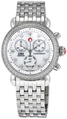 Women's Wrist Watches - Michele Womens MWW03M000114 CSX Chronograph Watch * Read more reviews of the product by visiting the link on the image.