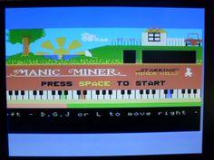 MSX Manic Miner intro