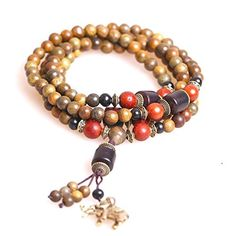 6mm 108 Natural Sandalwood Ebony Beads Buddhist Prayer Mala Necklace Bracelet by Felix Perry -- Awesome products selected by Anna Churchill