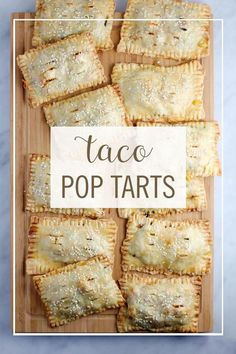 Taco Tarts::Easy to make and you can sub other ingredients to taste. Leave out the meat for Veggie Tarts.