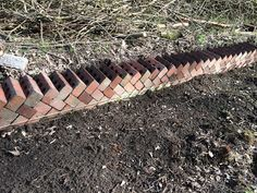 Old bricks being reused to create the original rose garden walls Brick Garden Edging, Garden Borders, Garden Paths, Brick Wall Gardens, English Garden Design, Old Bricks, Dream Garden, Big Garden, Garden Projects