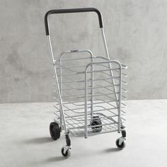 Polder ® Folding Shopping Cart with Insulated Grey Liner