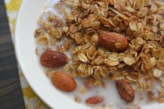 coconut maple granola...made with coconut oil!