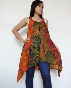SMASHING SUMMER SALE Hippie Tank by CottonCulture on Etsy, $15.00