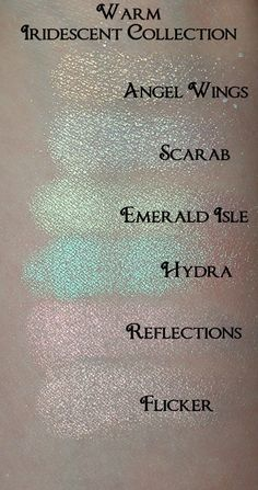 COOL Iridescent Eyeshadow Collection 6 Colors in a Stackable Set. $22.00, via Etsy.