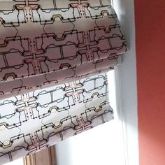 Roman blinds made by Polly Dextrous using fabric she designed Custom Printed Fabric, Printing On Fabric, That Moment When, Roman Blinds, Design Your Own, Bubbles, Pretty, Inspiration, Instagram