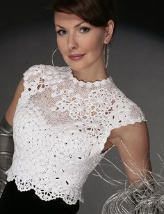 Wedding Bodice design by  Mirislava #irish #crochet #pattern