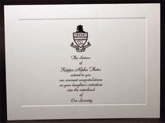 Have the New Member Director send these out to all of the new member's parents! - This is a super cute and super sweet idea! Kappa Delta, Phi Sigma Sigma, Kappa Alpha Theta, Alpha Sigma Alpha, Alpha Chi Omega, Phi Mu, All I Ever Wanted, Sorority Life, Greek Life