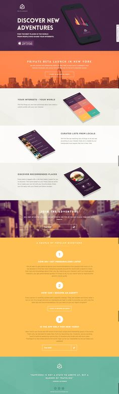 Flat website design layout.