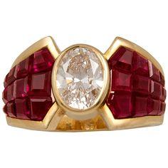 VAN CLEEF & ARPELS Mystery-set Ruby Diamond Ring