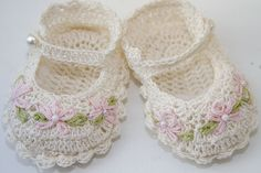 heirloom knitted baby booties free pattern | Free baby bootie crochet patterns crochet for beginners | Baby Knit ...