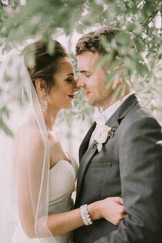 Gorgeous garden wedding portrait by Swak Photography