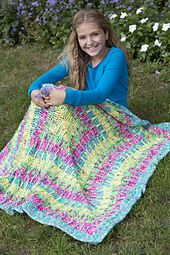 Ravelry: Squares in Square Throw pattern by Linda Dean