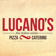 Italian Restaurant Logo Design  Lucano's Pizza & Catering Logo Design