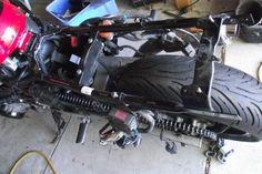 BEFORE CUTTING REAR FRAME... Street Fighter, Honda, Motorcycle, Frame, Picture Frame, Frames, Motorcycles, Hoop, Motorbikes