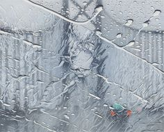 Hyperrealistic Rainy Windshield Drawings by Elizabeth Patterson (via Colossal)