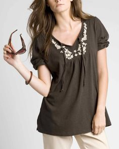 Embroidered tunic Embroidered Tunic, Modest Fashion, Organic Cotton, Tunic Tops, Clothes For Women, Spring, Inspiration, Accessories, Shoes