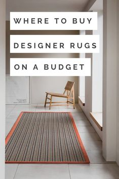 Natural living rom with seagrass urg  wooden chair   The Best Place To Buy Designer Carpets At Budget Prices - WeLoveHome - Home Interior Design Advice, Interior Stylist, Hygee Home, Alternative Flooring, Scandi Home, Natural Flooring, Uk Homes, Hallway Ideas