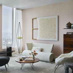 MODERN LOVE, warm muted pink paint color by Backdrop.