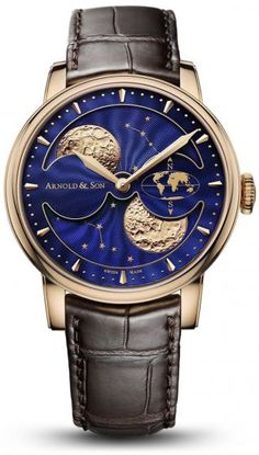 Arnold & Son Goes to the Moon in a Big Way at This Year's BaselWorld Fair-Stephen Silver Fine Jewelry - SH Silver Co. Fine Watches, Cool Watches, Rolex Watches, Latest Watches, Moonphase Watch, Arnold Son, Tourbillon, Patek Philippe Aquanaut, Skeleton Watches