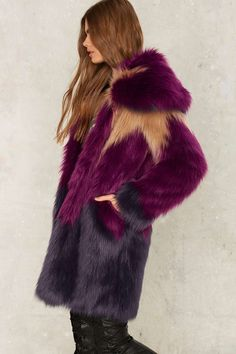 Love this faux fur coat!