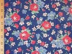 vintage 40s fabric