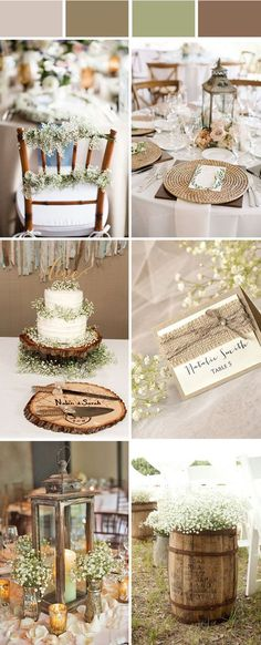 elegant rustic wedding ideas with babysbreath