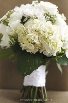 hydrangea wedding bouquet (www.lovetreephotography.ca)