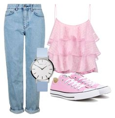 """Untitled #230"" by summer-zou ❤ liked on Polyvore featuring Topshop, Pierre Balmain and Converse"