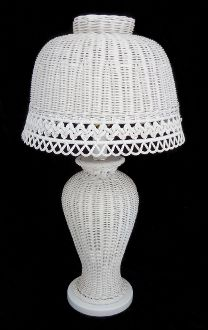 Vintage Scalloped Wicker Lamp (SOLD)