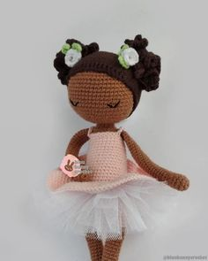 Mirabelle from the series of Mini Ballerina Doll, Amigurumi Ballerina Doll Pattern. This is a DOWNLOADABLE TUTORIAL. Written in English, using Us terminology. Materials • 2mm crochet hook or any size you prefer • I have used 4ply 100% Cotton, Sport weight yarn. White, black, pink, caramel, and Bunny Crochet, Crochet Doll Pattern, Ballerina Doll, Sport Weight Yarn, Doll Tutorial, Amigurumi Doll, Ballerinas, Doll Patterns, Crochet Hooks