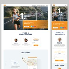 1000 Mile Challenge - Homepage and Landing Page Design Contest - Looking for Long-term Partner by Dilyana H.