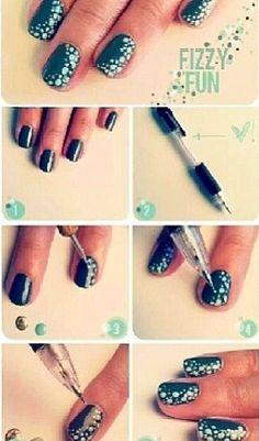 How To Make Poka Dots On Your Nails Aka Cute Nail Idea