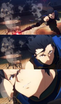 Saber Diarmuid from Fate/Grand Order fifth trailer.