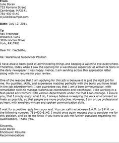 warehouse manager resume examples httpwwwresumecareerinfowarehouse cover letter - Sample Of A Cover Letter For A Resume
