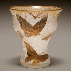 Mont Joye French Nouveau cameo art glass vase
