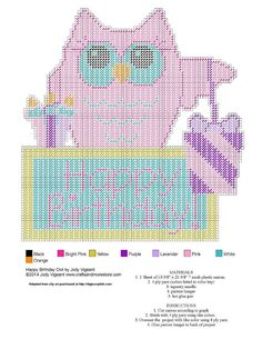 HAPPY BIRTHDAY OWL by JODY VIGEANT -- WALL HANGING