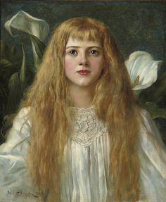 A Fair Beauty, Herbert Gustave Schmalz. English (1856-1935)
