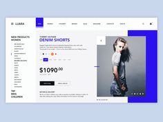 How Web Design dribbblepopular: Luara - Clothing store. Web Design Tips, Ui Ux Design, Flat Design, Blue Website, Tablet Ui, Ecommerce Web Design, Delivery Man, Photoshop, Website Layout