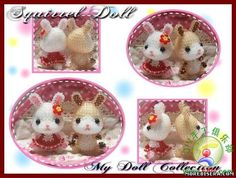 Beaded Egg Easter Bunnies PATTERN, click to view full size