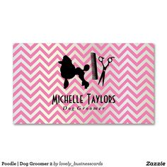 Poodle | Dog Groomer 2 Standard Business Card #doggrooming #petgrooming #showdog #businessowner