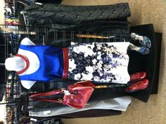 Royal, poppy red and floral look at Clothes Mentor South Arlington