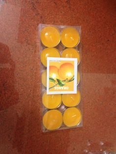 Orange scented Tea light candle for ₹120/-