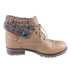 Refresh Women's Combat Style Lace Up Ankle Bootie, Tan Leather Booties, Ankle Booties, Snow Boots, Winter Boots, Thing 1, Beautiful Shoes, Shoe Collection, Your Shoes, Timberland Boots