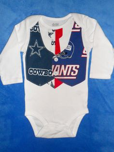 A House Divided NFL/College Football Team Vest & Tie Baby Onesie or Toddler Shirt with 2 Teams...CHOOSE your TEAMS. $23.00, via Etsy. - just need the redskins and cowboys!