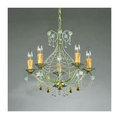 (CLICK IMAGE TWICE FOR UPDATED PRICING AND INFO) #home #ceiling #homeimprovement #homedecor #lighting  #lights #lightandfixture #chandeliers see more chandeliers at http://www.zbrands.com/Chandeliers-C35.aspx - Crystorama Chandeliers - Abigail  Topaz Swarovski Strass Crystal Mini Candle Chandelier in Gold Leaf