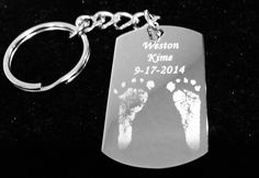A personal favorite from my Etsy shop https://www.etsy.com/listing/220219574/baby-footprints-kids-pictures