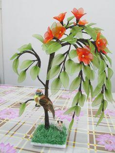 Nylon Flowers, Cloth Flowers, Diy Flowers, Fabric Flowers, Nylon Crafts, Material Flowers, Handmade Decorations, Flower Decorations, Crepe Paper Flowers