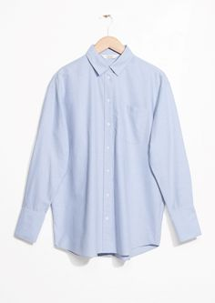& Other Stories   Oversized Button Down Shirt in Blue