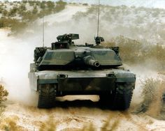 M1A1 Abrams main battle tank. Lethal.  Actually drove and fired one of these!